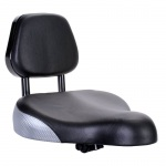 Extra Large Seat with padded backrest fits most indoor exercise