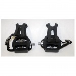 Combination Pedal with toe clip