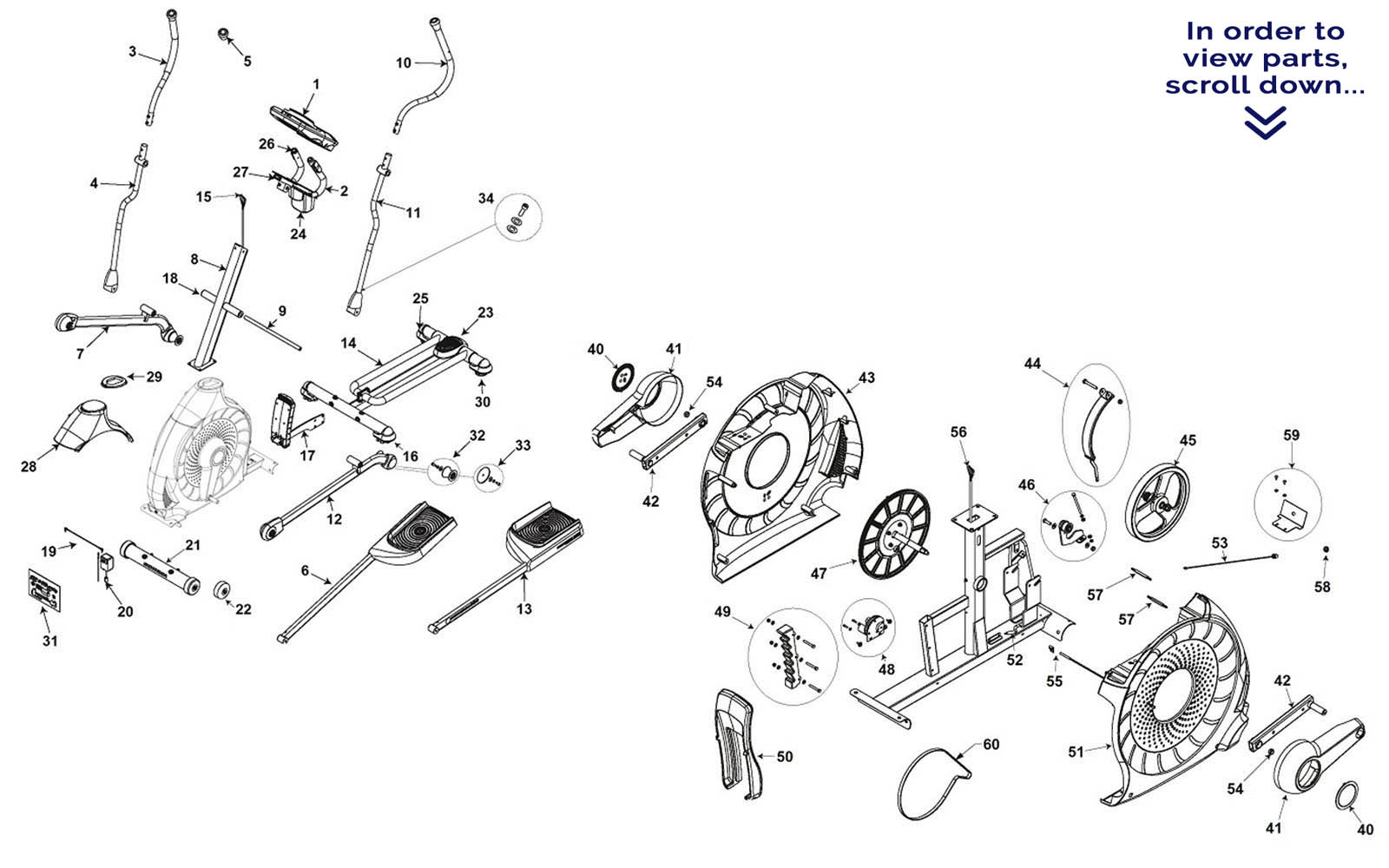 trainer parts diagram