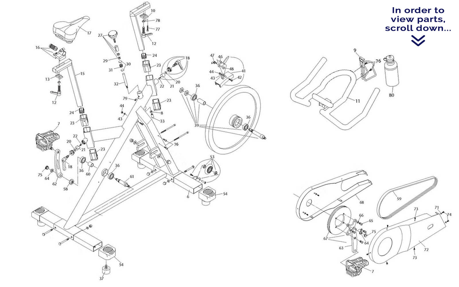 ES600 diagram vision fitness es600 es700 scroll down to view parts